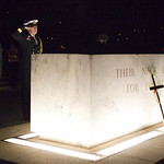 Stone of Remembrance at ANZAC Day Dawn Service, 2012