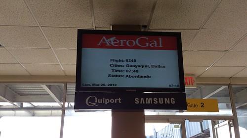 この便でガラパゴスへ。