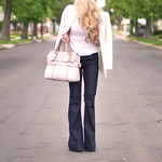 kooba sabrina bag - wavy hair-love story jeans