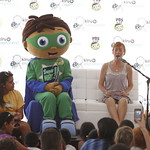 KLRU 50th Birthday Party 2012 324 Bernadette Nason reads with Super Why