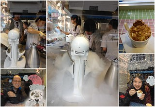 Lab Made icecream in action (made with liquid nitrogen on the site).