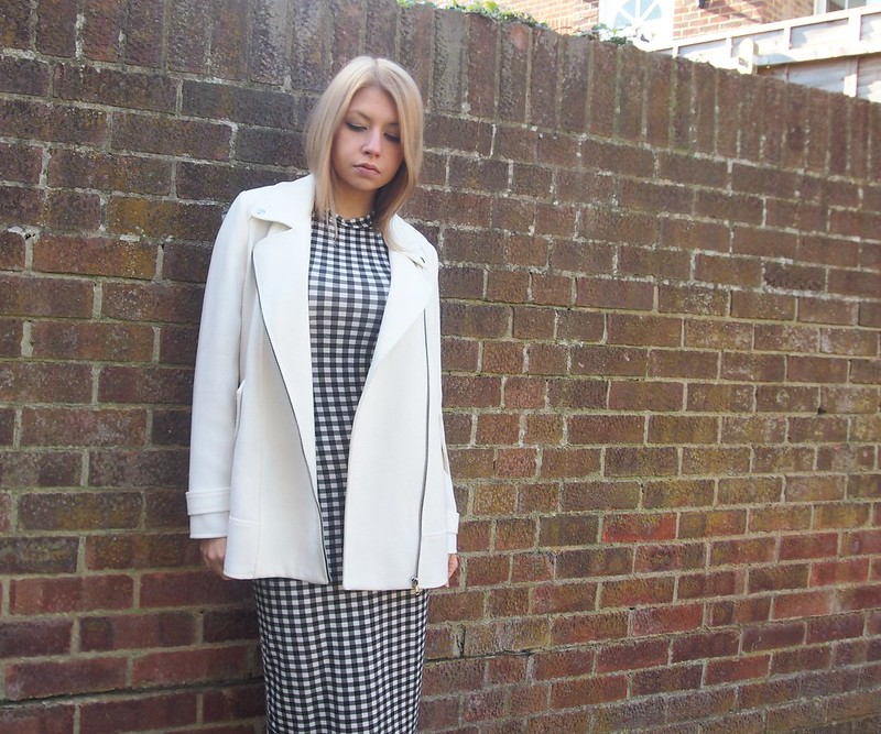 Gingham, New Look, Midi, Dress, Bodycon, Check, 915, Monochrome, Primark, Biker, Boucle, White, Longline, UK Fashion Blog, London Style Blogger, Sam Muses, SS14, How to Wear, Outfit Ideas, Styling Ideas