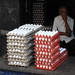 1268 Eggs for sale taken from the back of a pickup truck - Chengalpattu India - 04-05-2016