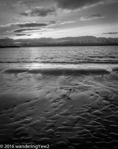 blackandwhite 120 mamiya film beach mediumformat dawn iceland sand filmscan blackandwhitefilm mamiya7ii sauðárkrókur