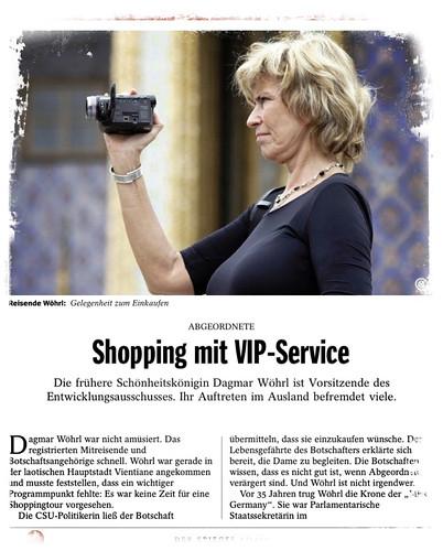 Dagmar Wöhrl: Shopping mit VIP-Service (DER SPIEGEL 09/2012)