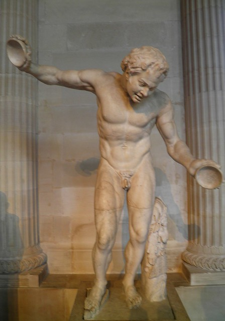 "Dancing satyr of the ""Invitation to the dance"" group, 1st–2nd century AD, discovered in Rome in 1630, Louvre Museum"