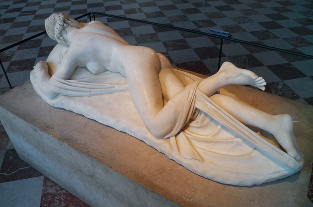 Sleeping Hermaphroditus, Roman copy of the 2nd century CE after a Hellenistic original of the 2nd century BC, from Rome, Louvre Museum