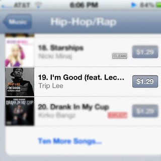 19 on iTunes Hip-Hop charts with no music video, no radio… | Flickr