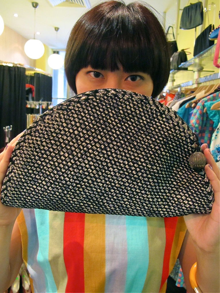 Eyeing this organic woven clutch bag?