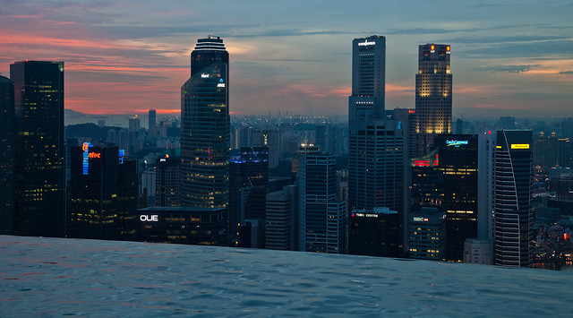 Singapore skyline with infinity pool flickr photo sharing - Singapur skyline pool ...