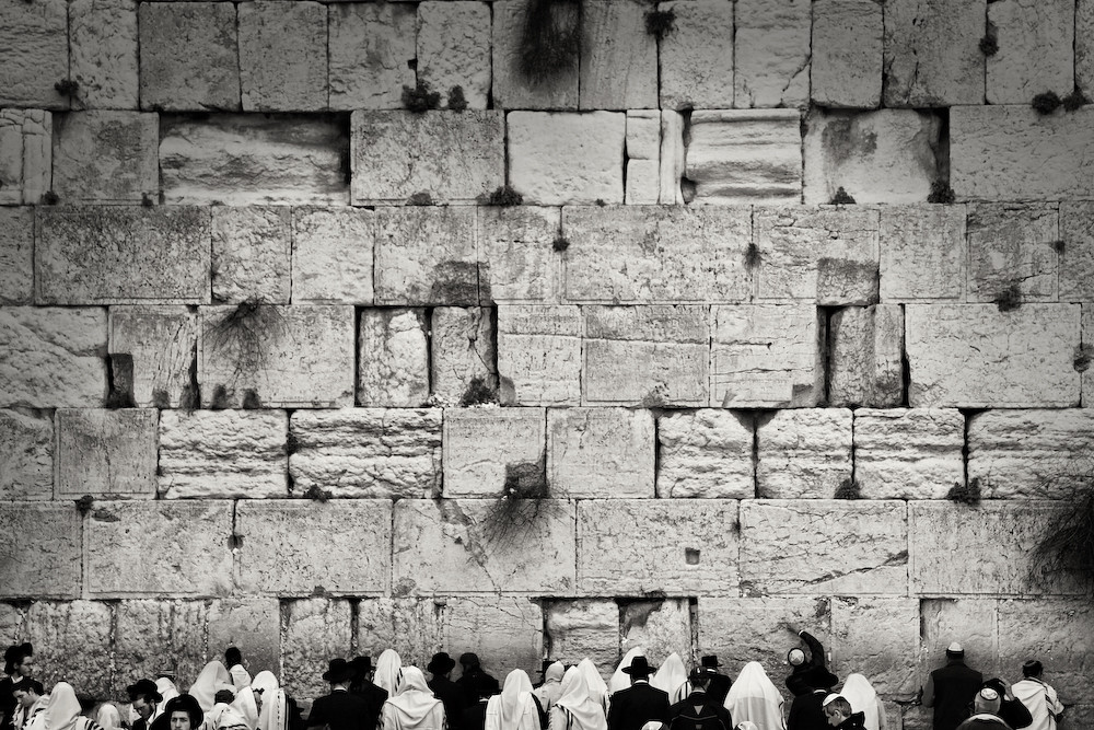 Wailing wall or western wall in the old city of jerusalem israel by mario gerth photography
