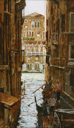 "Venice oil sketch 17¾"" x 10½"""