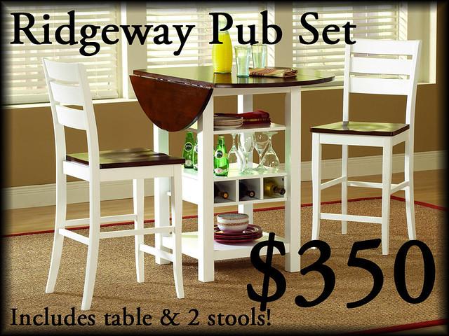 5916RidgewayWhiteMahogany3pcPub$350