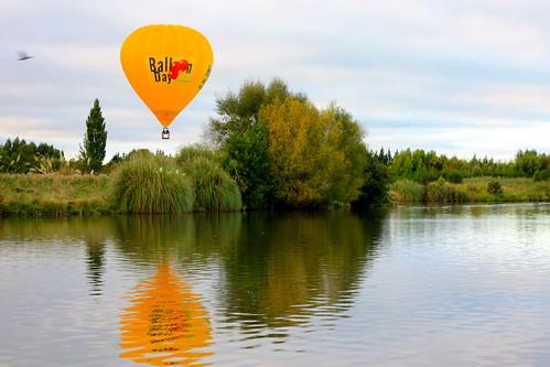 lake hot water sunrise reflections dawn air balloon henley masterton wairarapa