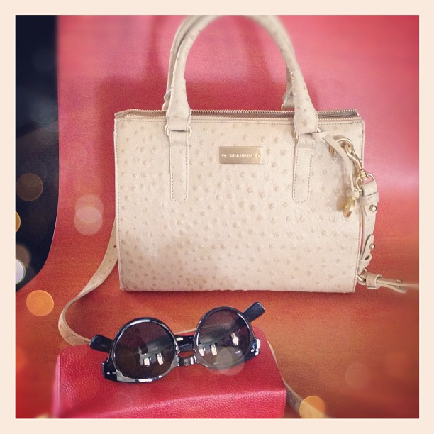 New classic ostrich handbag for Spring... courtesy of @Brahmin & I love it!
