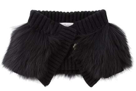 Sportmax Black Enfasi Fur Collar