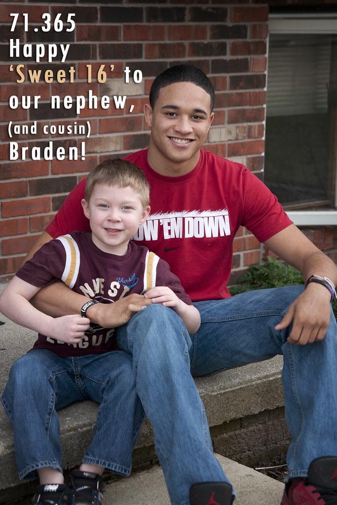 71.365 Sweet 16 for Braden!