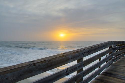 ocean usa sc sunrise landscape dock charleston