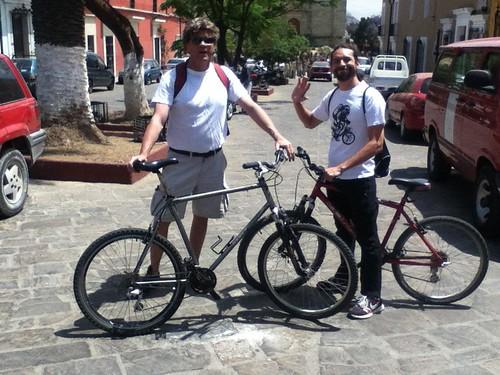 Ron and Carlos, Cycling in Oaxaca 03.2012