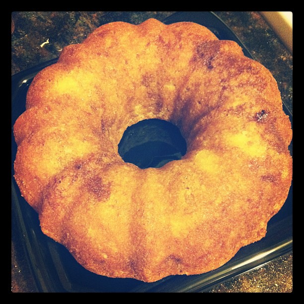 vacation food. and my first successful attempt at making a pretty bundt cake!