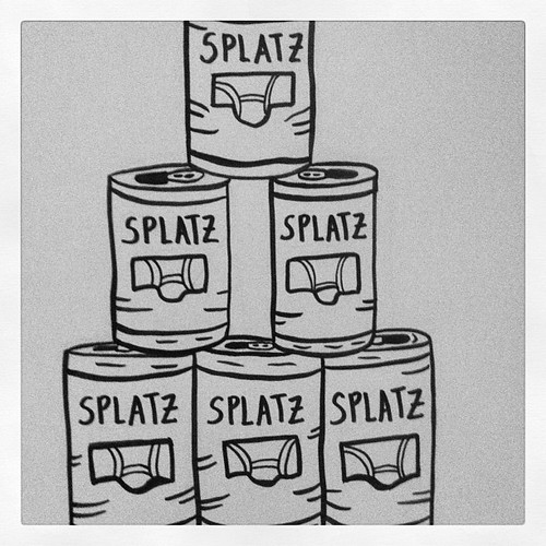 Splatz Beer Pyramid Ink Doodle by Michael C. Hsiung