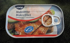 Coop Makrillfile from Denmark nom fish in a can