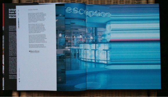 Photograph of Damien Hirst's Pharmacy treated by Daniel Streat at Barnbrook, V&A's British Design book