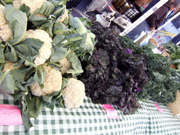 Winter produce at Pearl market