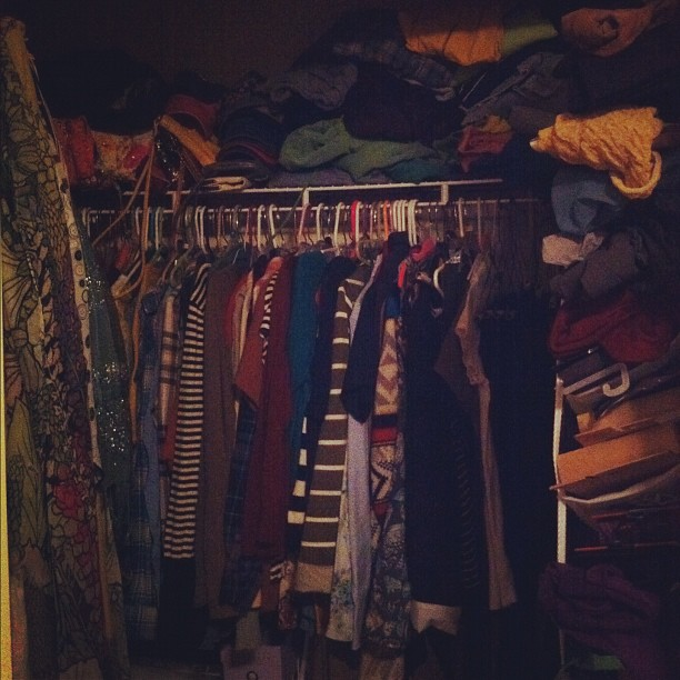 Yep, it's a big mess + I never have anything to wear ;) of course! #febphotoaday #yourcloset #day12 #mess