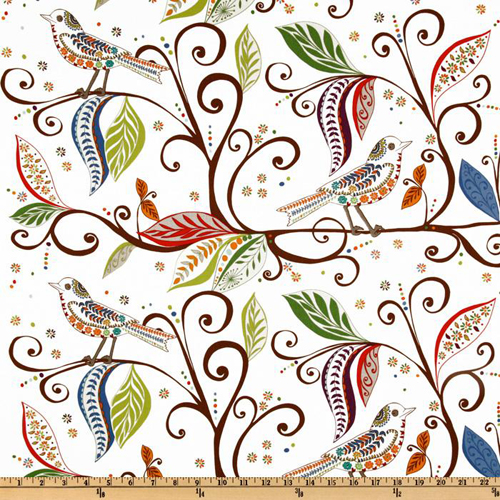 Valori Wells Wrenly Wren Gypsy White EK-791 fabric