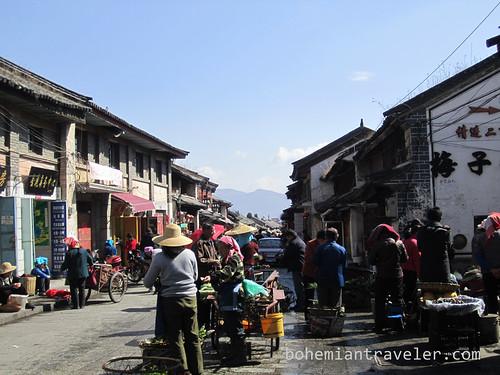 entrance to Dali China market