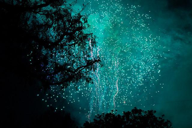Blue/Green Fireworks   Flickr - Photo Sharing!