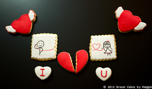 Valentine's Broken Heart Cookies