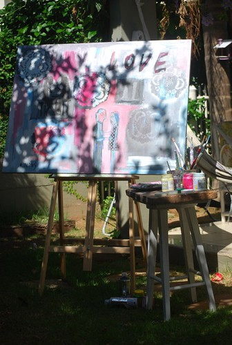 Painting in the garden  by good mood factory / Anita Damas