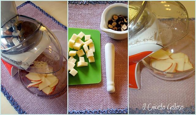 Insalata di valeriana, nocciole, mele e caciotta 3