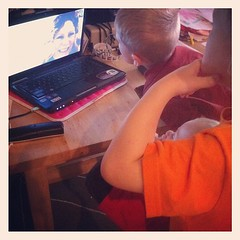 Skyping with grandma. I do love technology!