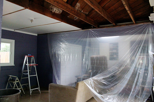 Prepping for ceiling removal