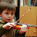 sequoia practicing violin    MG 8801