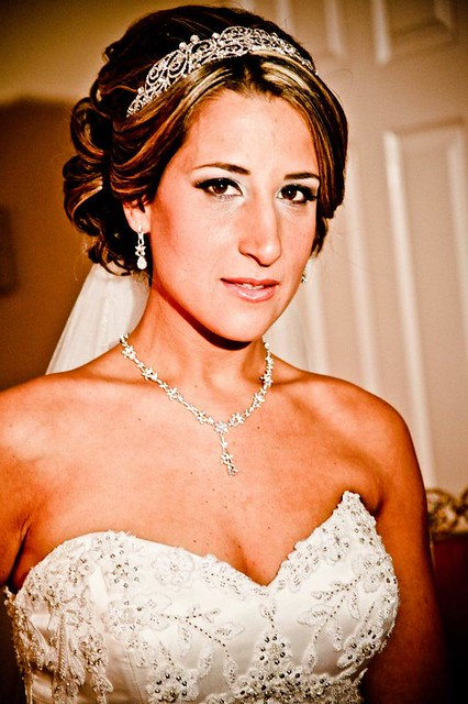 Lisa and Michael, bridal headpiece and jewelry - Bridal Styles New York