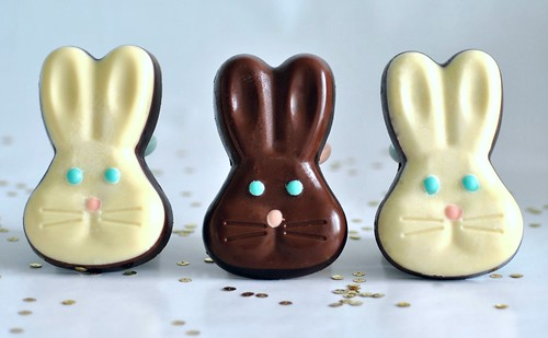 Chocolate bunny heads