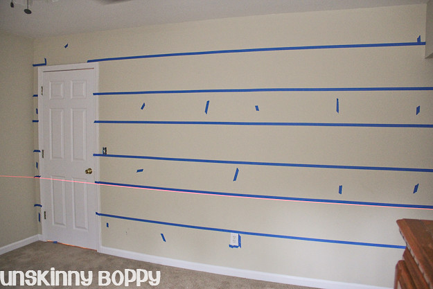tape on wall for painting