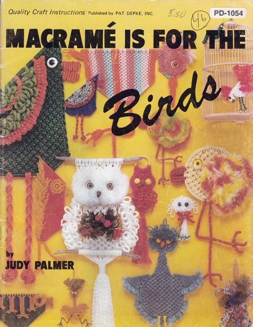 Macrame is For The Birds Judy Palmer 1979 cover