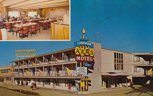 california vintage hotel arms postcard bijou motor lakeview