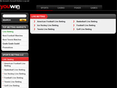 YouWin Live Betting Options