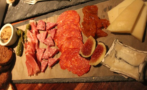 Charcuterie plate at City Tavern