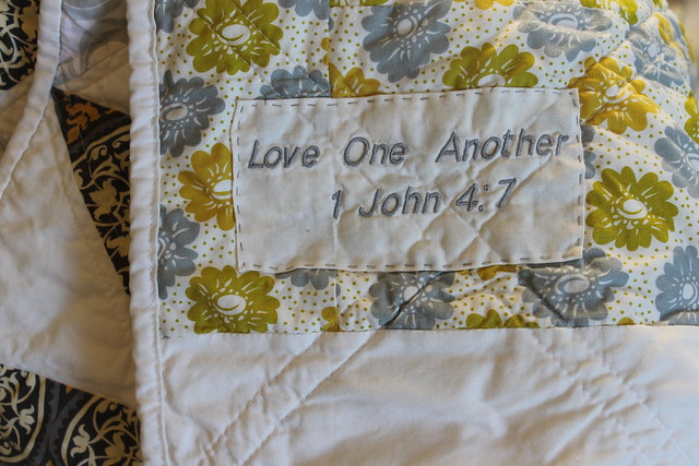 Love One Another Quilt Label