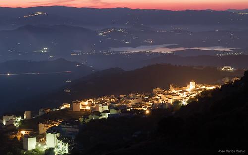 sunset sky de atardecer spain pueblo andalucia nocturna andalusia andalusien malaga embalse alandalus canillas axarquia aceituno viñuela carloscastroweb axarmedios