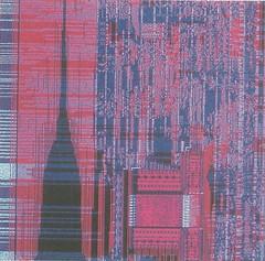 window treatment(0.0), tapestry(0.0), pattern(0.0), curtain(0.0), interior design(0.0), flooring(0.0), art(1.0), red(1.0), design(1.0), tartan(1.0),