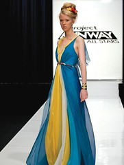 Austin's Seychelles-inspired gown