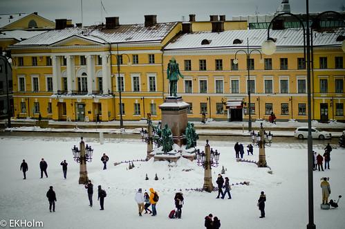 Snowy square
